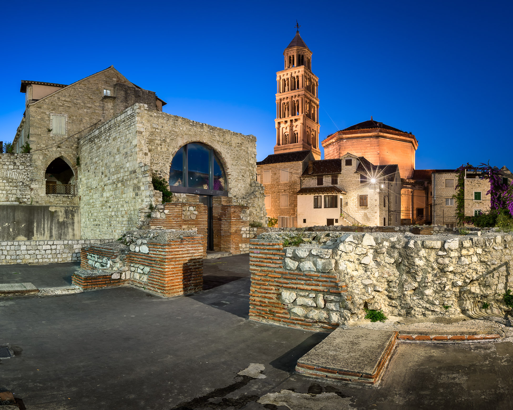 Diocletian Palace in the Evening, Split, Dalmatia, Croatia
