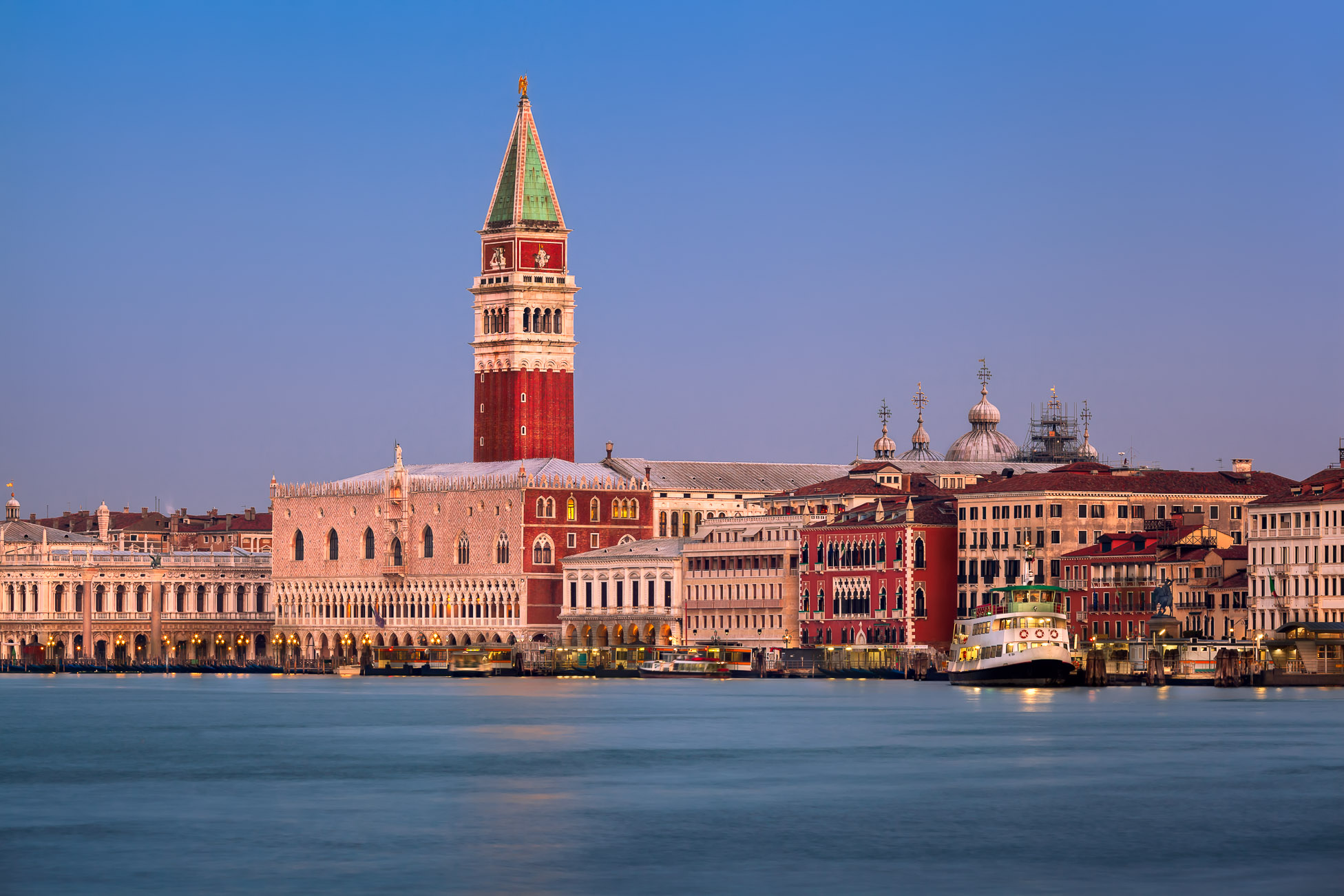 Campanile, Doges Palace and Venice Skyline in the Morning, Venice, Italy