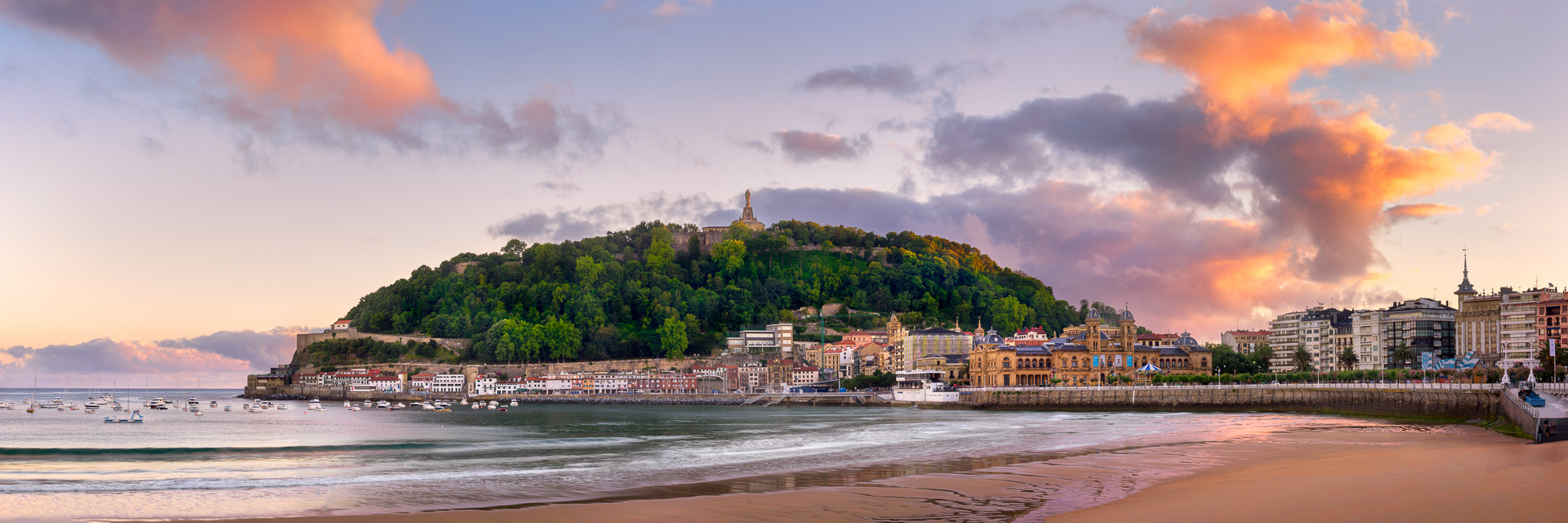 Panorama of San Sebastian in the Morning Light, Basque Country, Spain