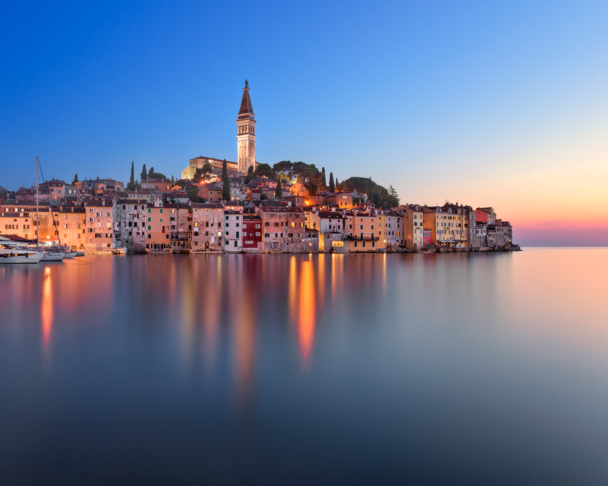 Rovinj Skyline in the Evening, Istria, Croatia