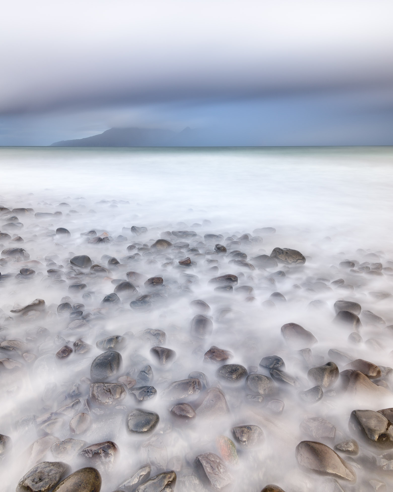 Rocky Beach in the Morning, Isle of Eigg, Scotland, United Kingdom