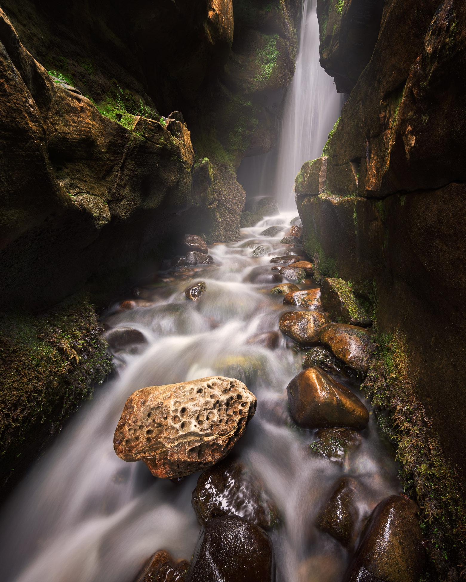 Small Waterfall, Isle of Eigg, Scotland, United Kingdom