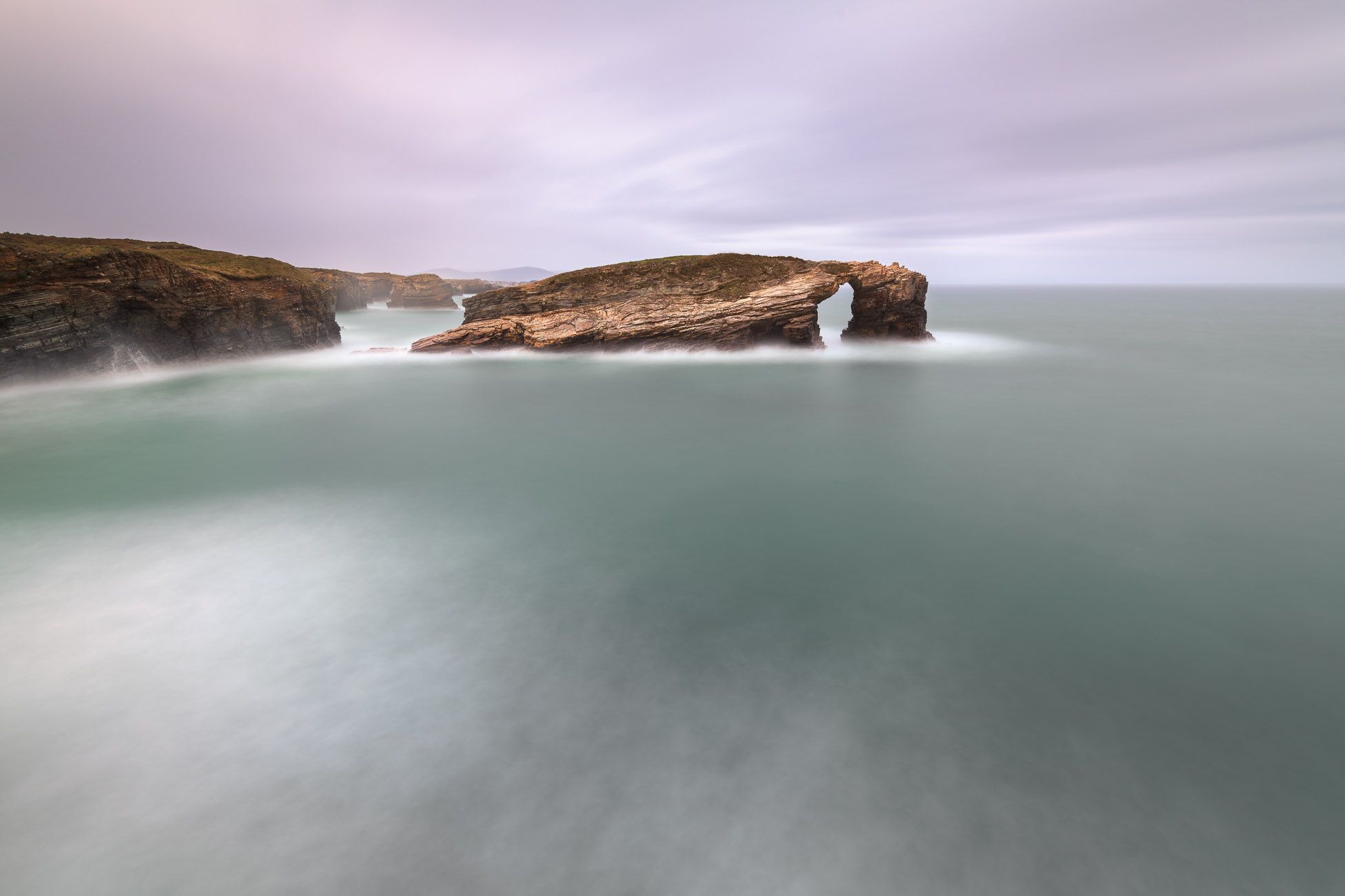 The Gate of the Winds, Praia das Catedrais in the Evening, Galicia, Spain