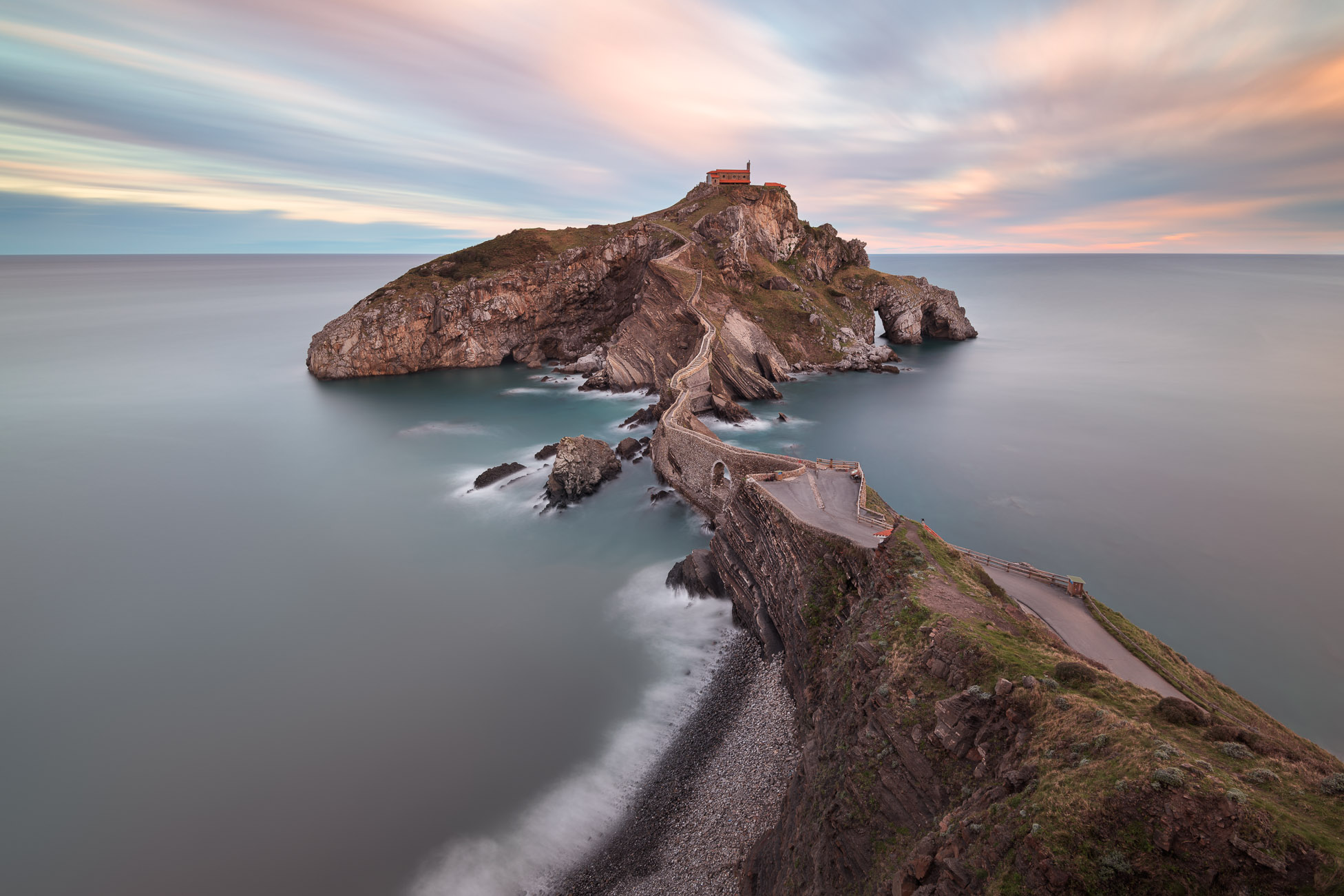 Dragonstone, Gaztelugatxe and San Juan Church in the Morning, Basque Country, Spain