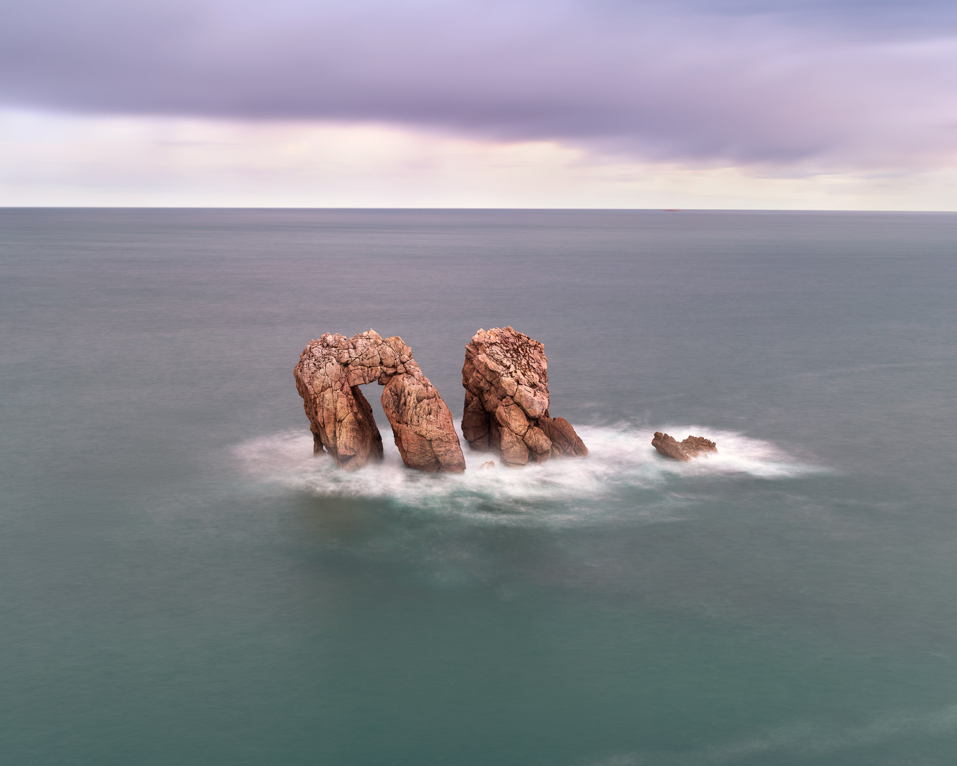 The Gate of Math, Urro del Manzano Rocks in the Morning, Liencres, Cantabria, Spain
