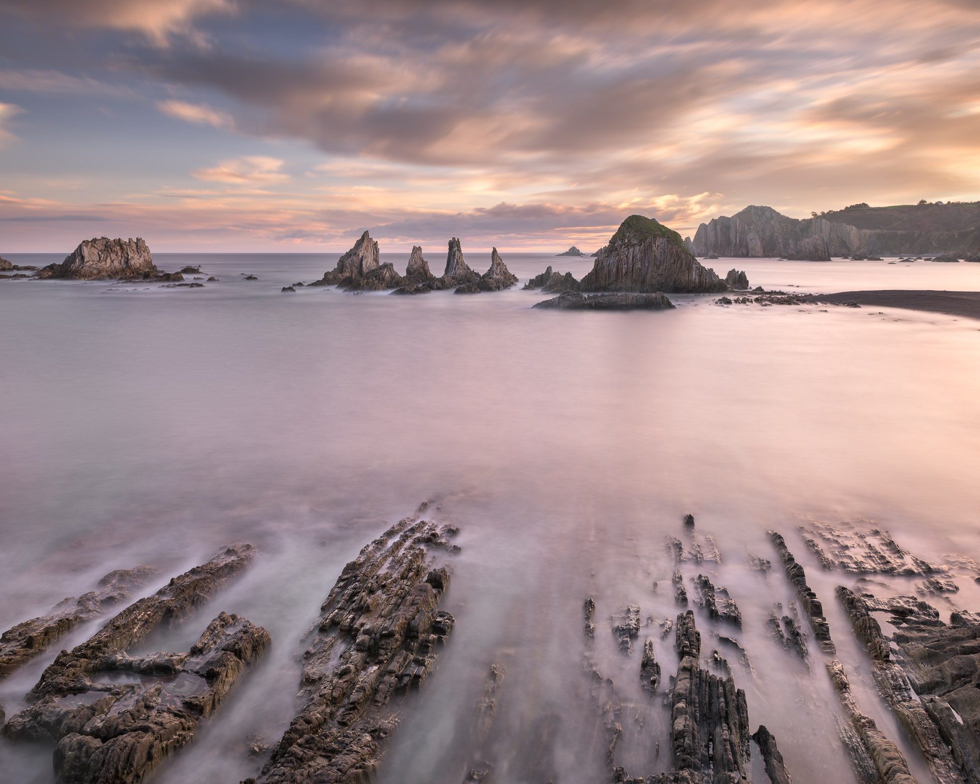 No Man's Land, Playa de La Gueirua in the Morning, Asturias, Spain