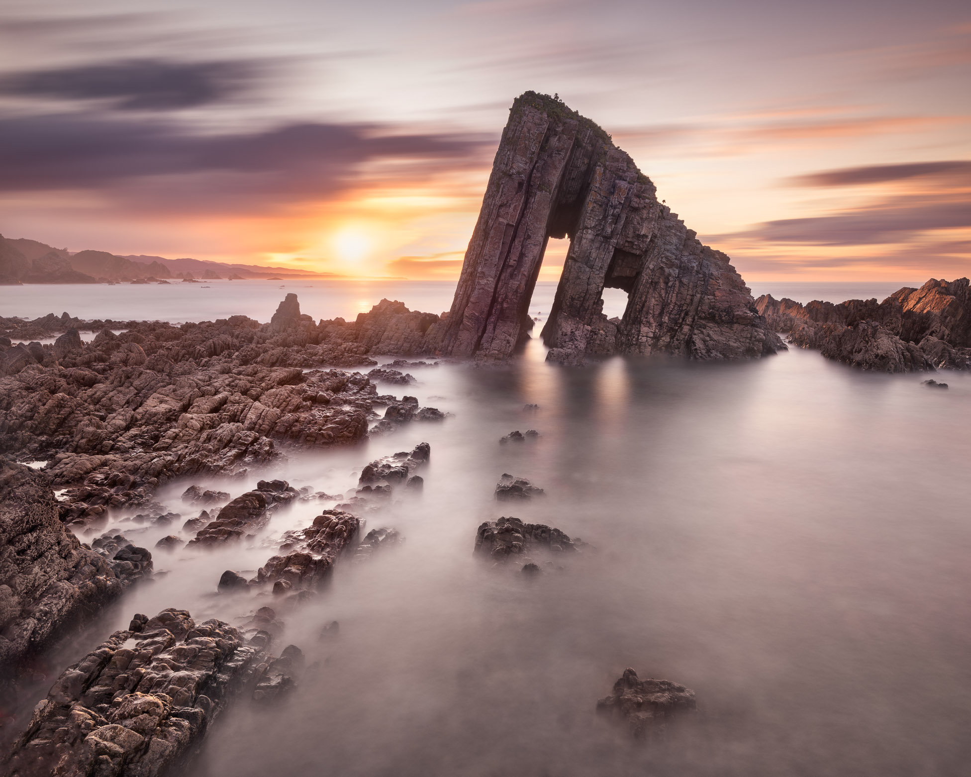 The Gate Of Knowledge, Playa La Vallina in the Evening, Asturias, Spain
