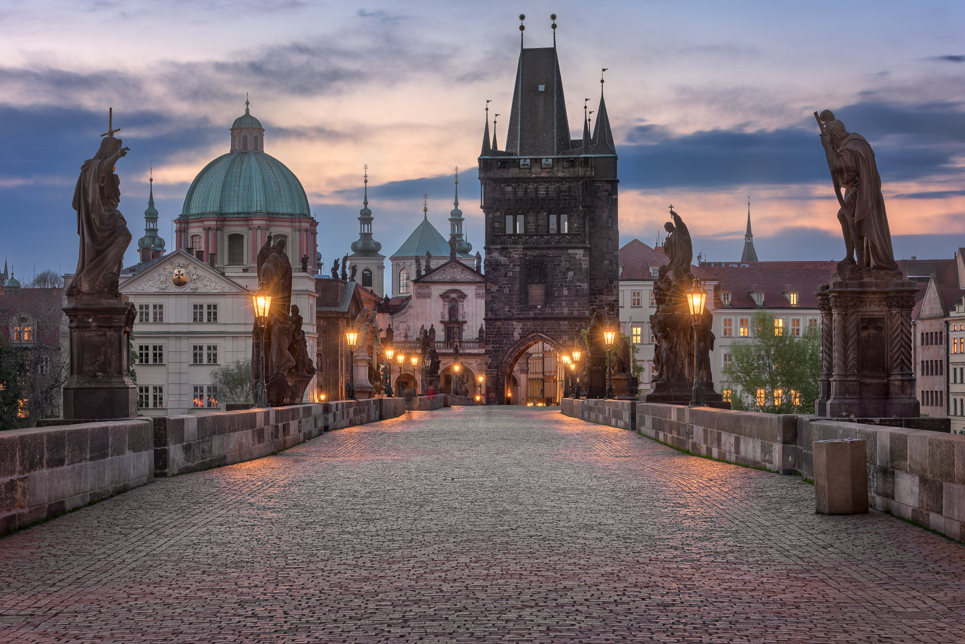 Charles Bridge in the Morning, Prague, Czech Republic