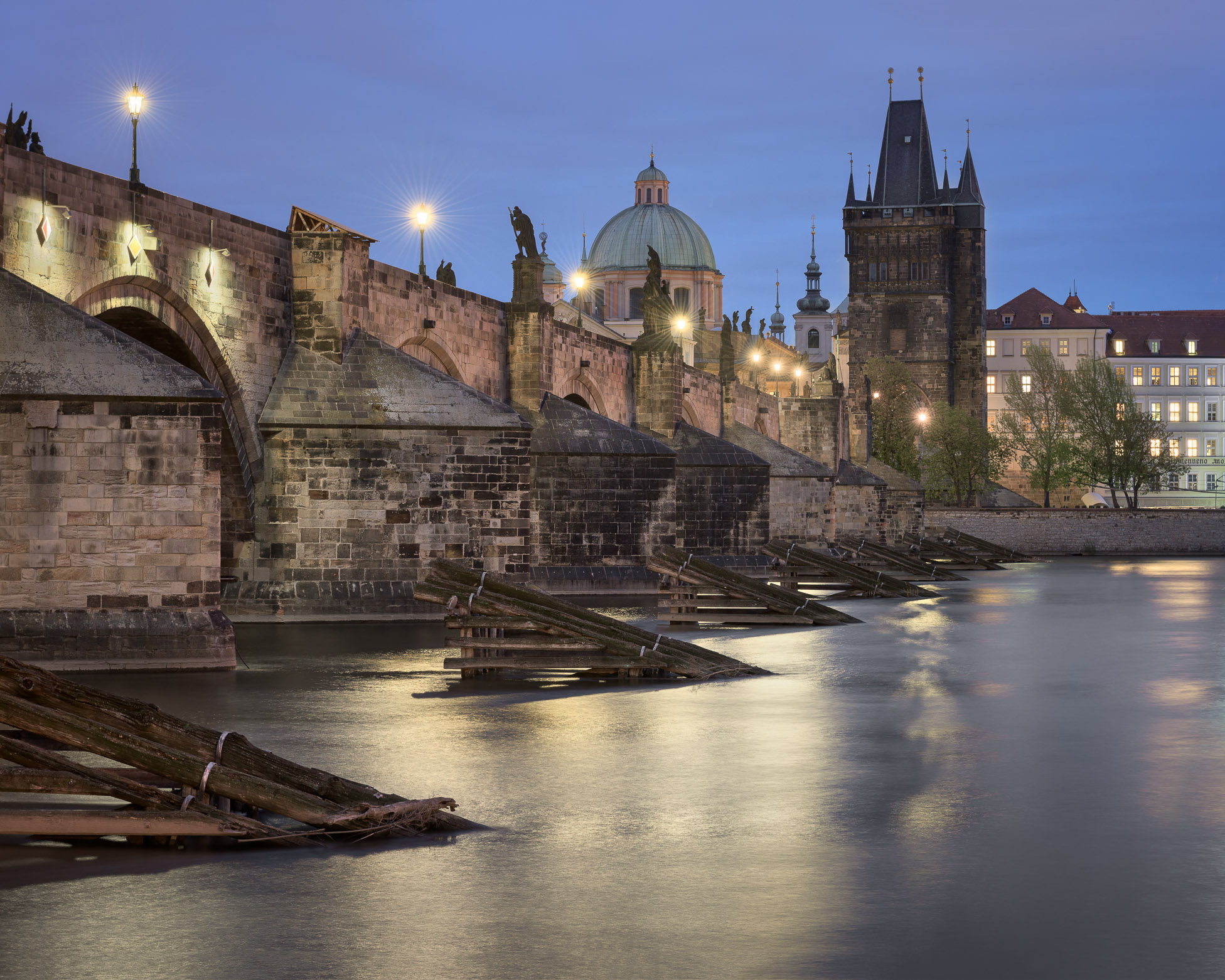 Charles Bridge from Lesser Town Side
