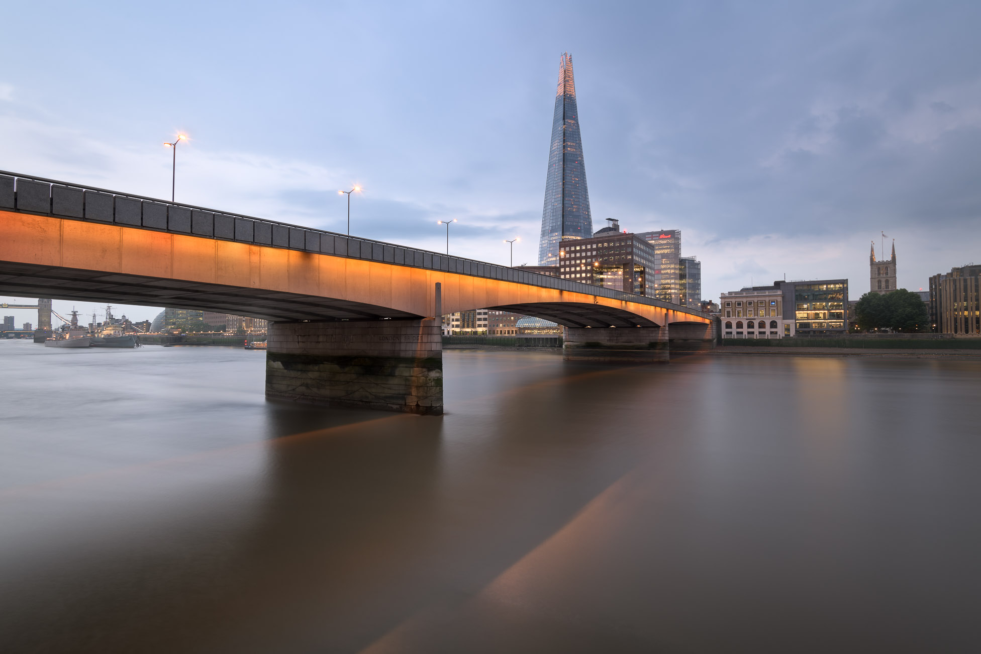 London Bridge Skyline and London Shard Skyline