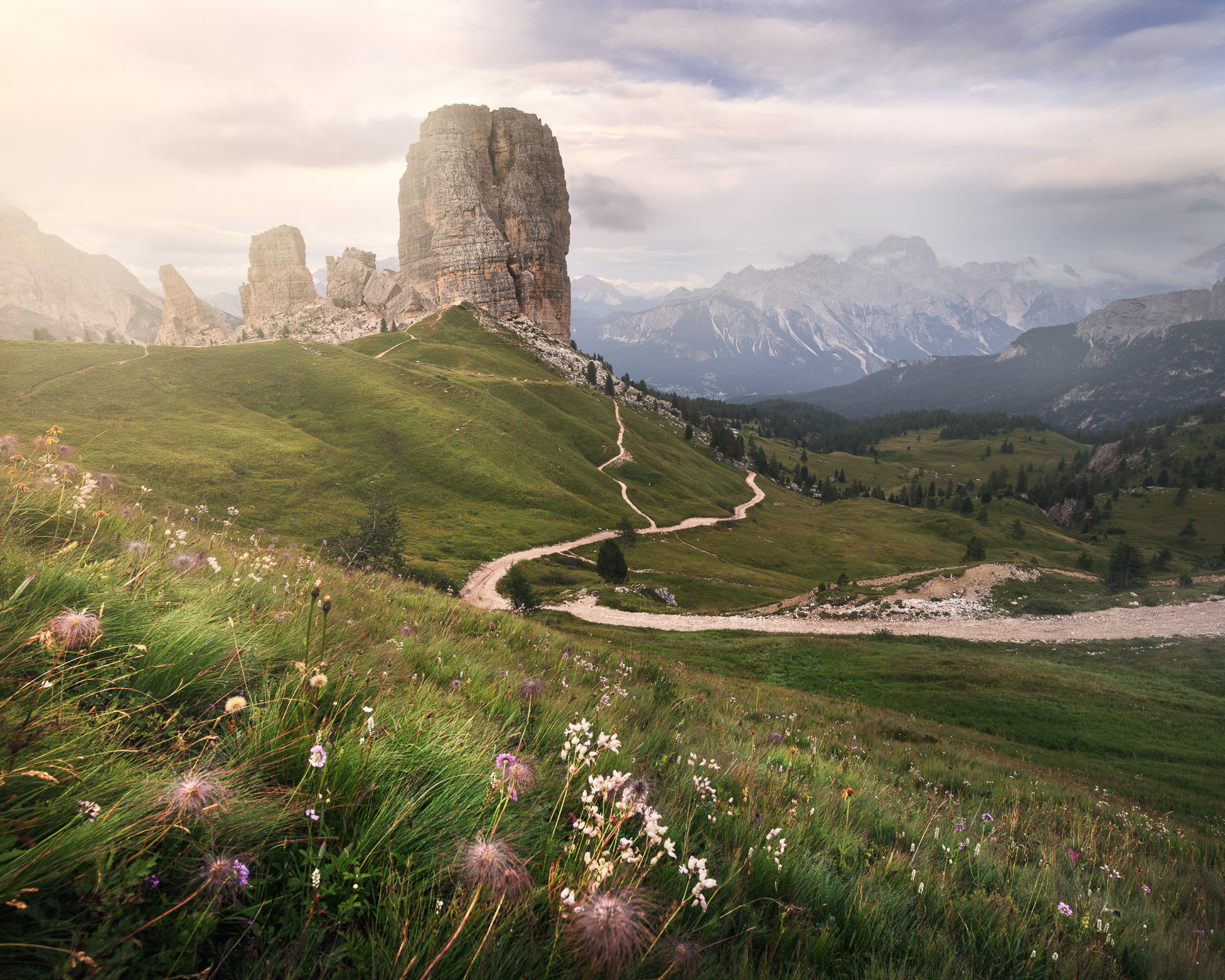 Cinque Torri at Sunset, Dolomites, Italy