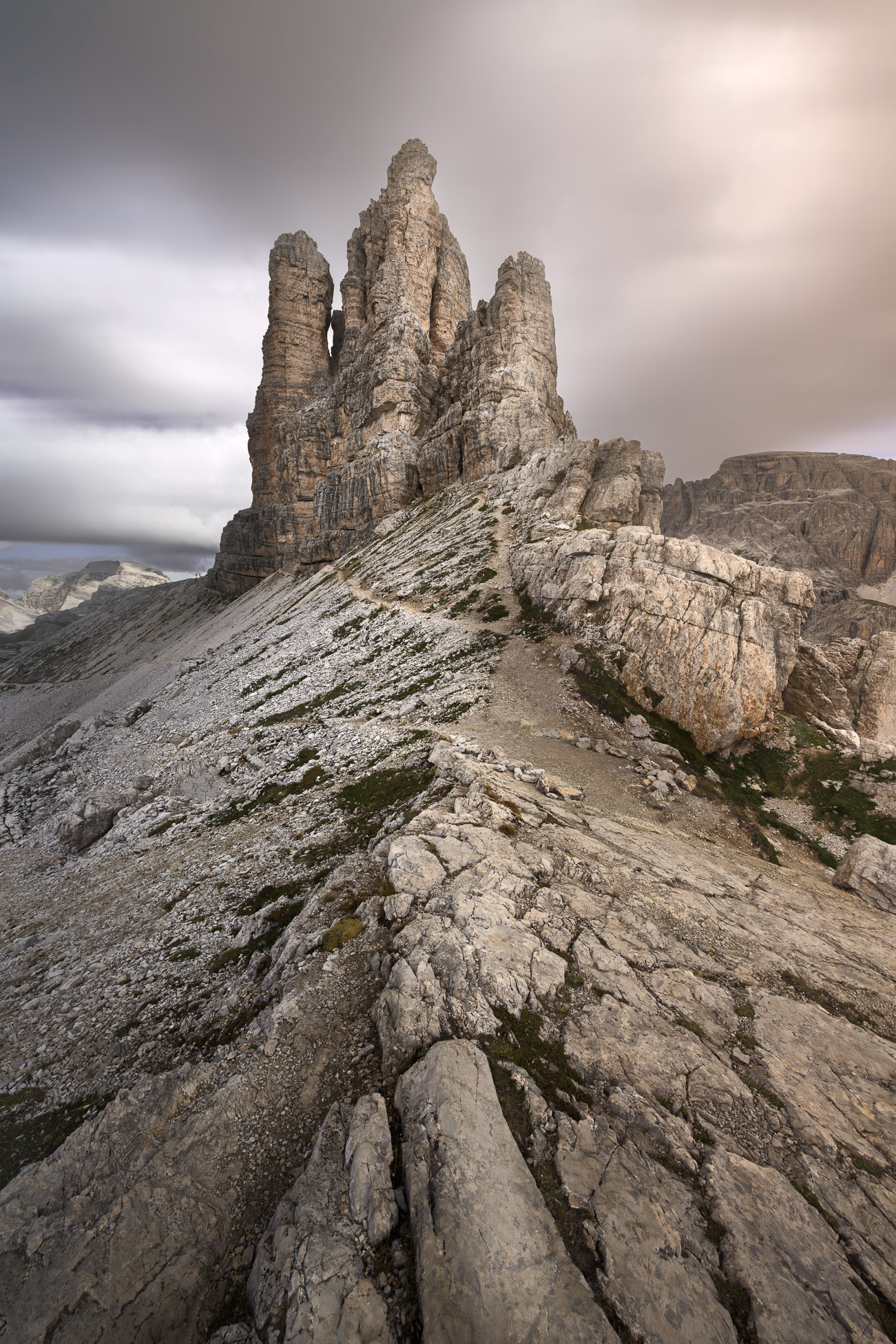 Torre di Toblin (Toblinger Knoten), Sexten Dolomites (Sesto Dolomites), Italy