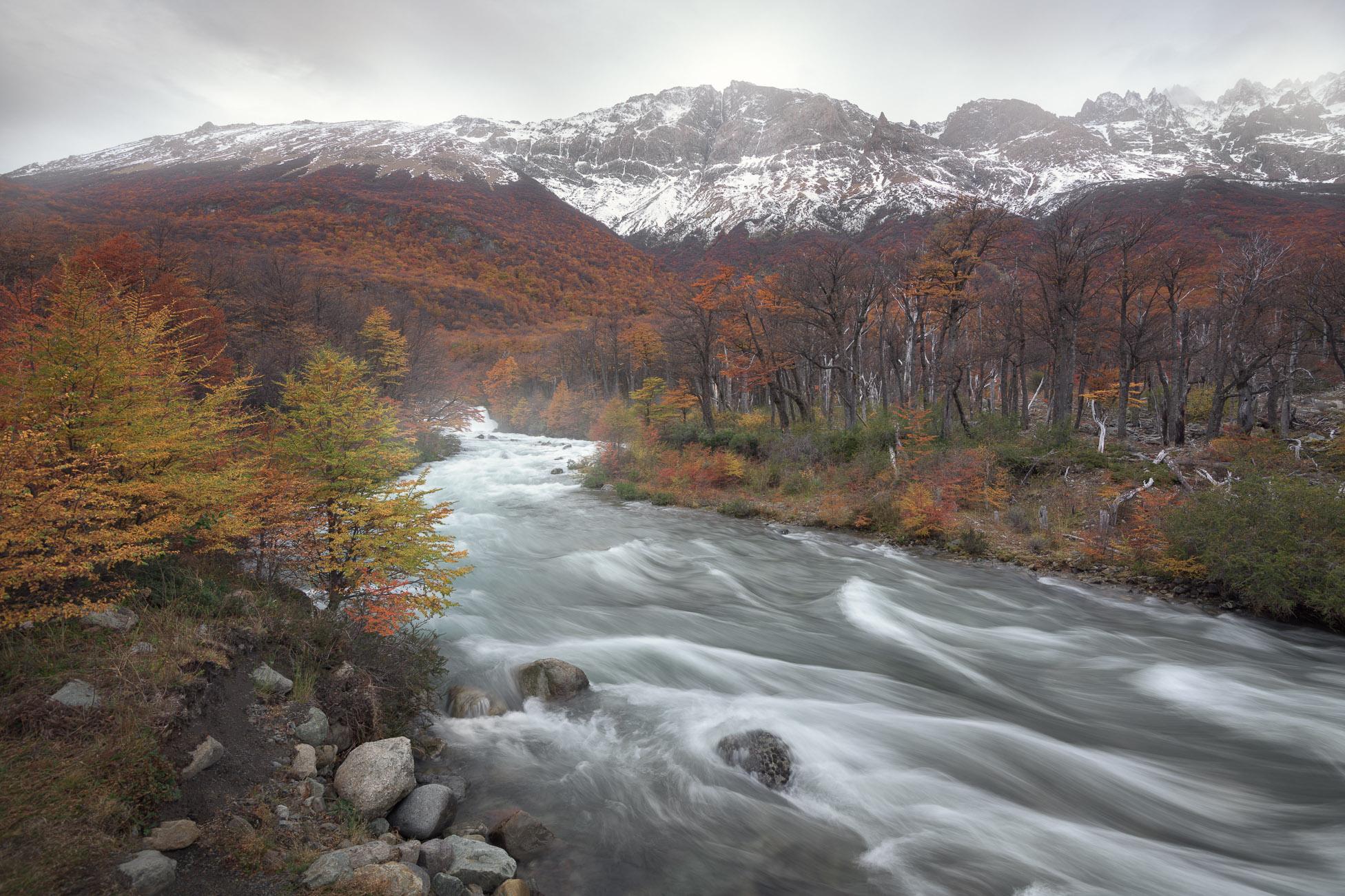 Rio De las Vueltas in the Morning, Los Glaciares National Park, Argentina