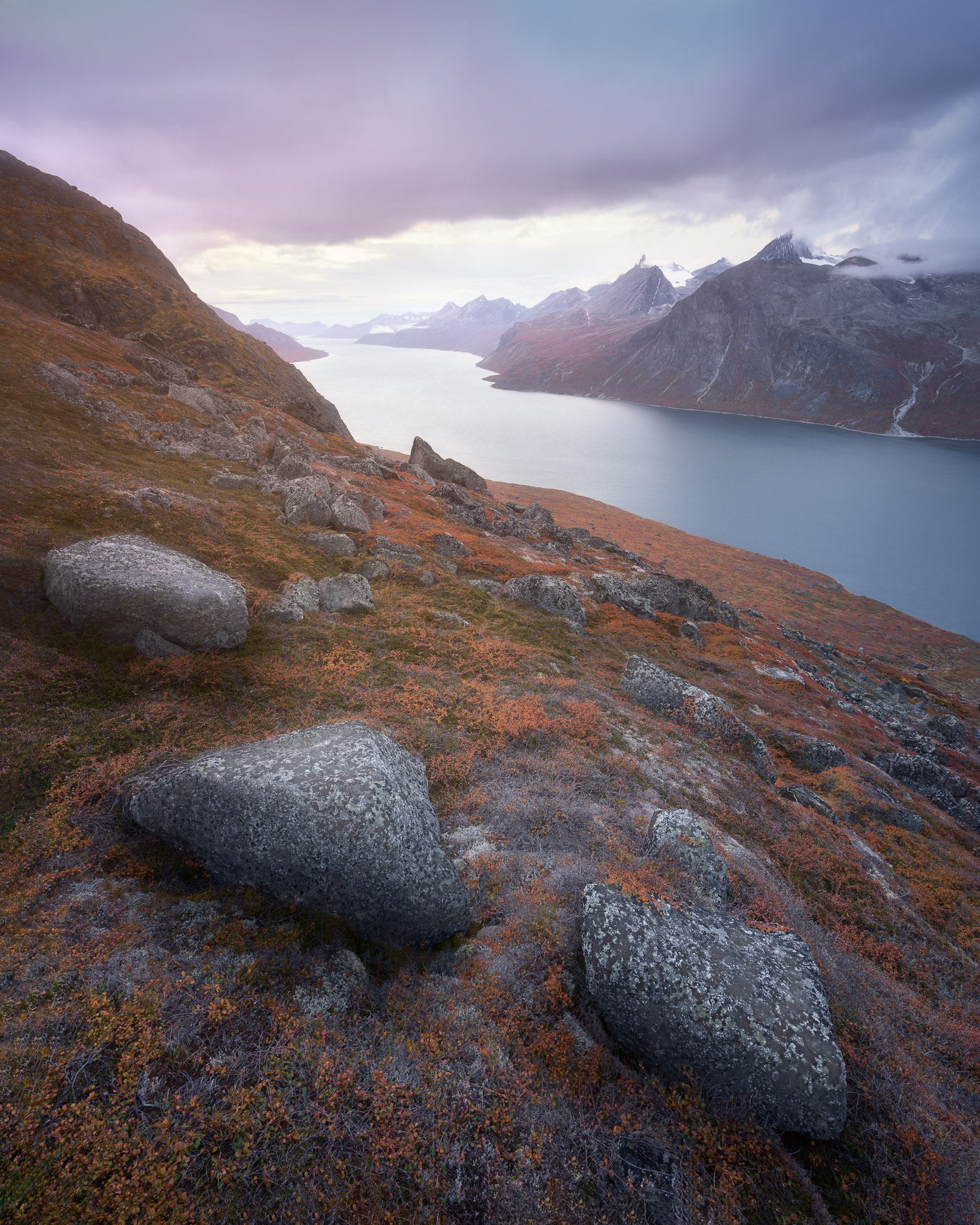 Tasermiut Fjord in the Evening, South Greenland