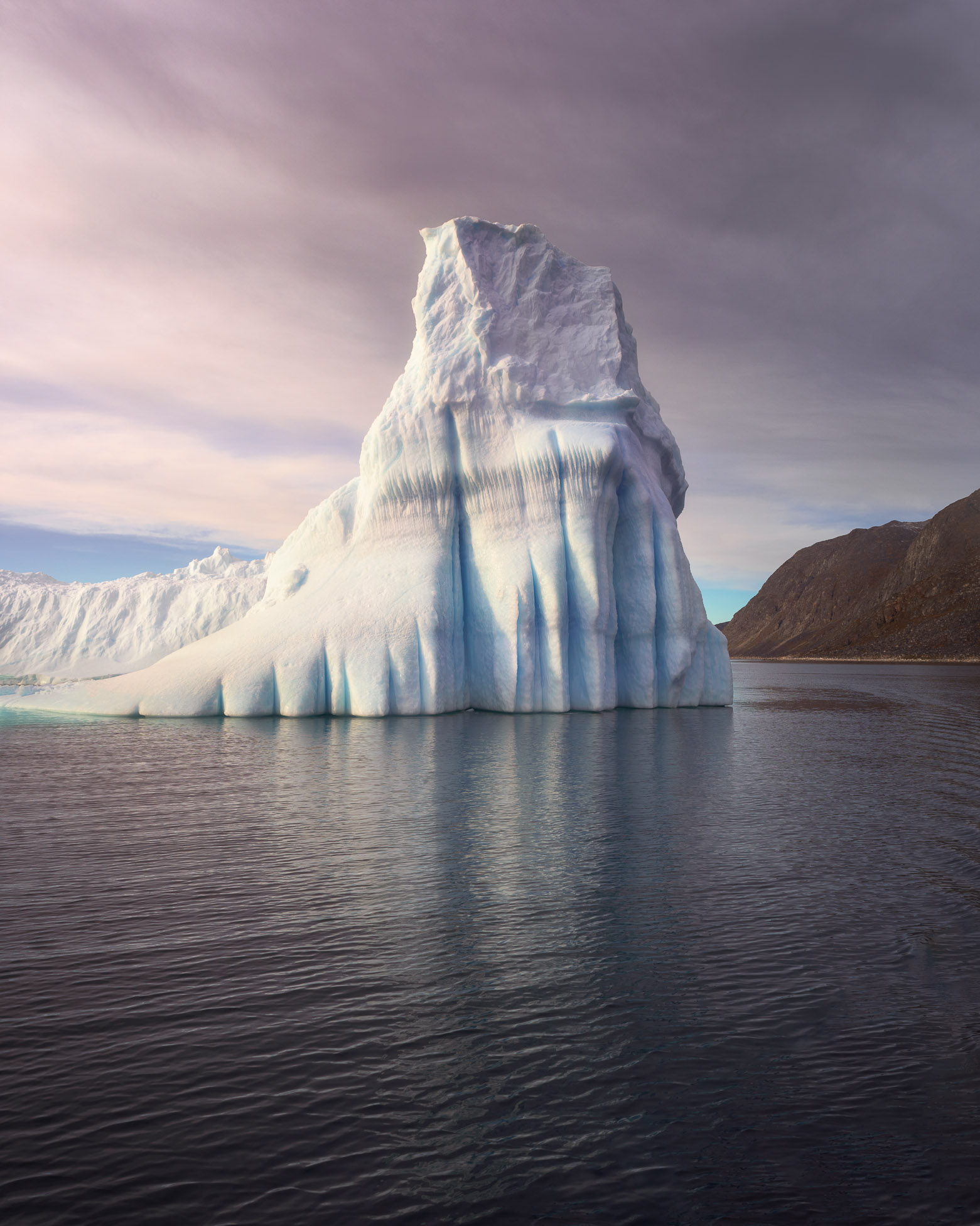 Lonely Iceberg in the Morning, South Greenland